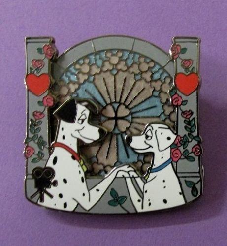 Disney-Walts-Classic-Collection-101-Dalmatians-Wedding-Pongo-Perdita-LE-Pin