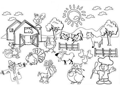 La Granja Y Los Granjeros Dibujos Para Pintar Az Dibujos Para Colorear Animales En La Granja Dibujos Para Pintar Animales De La Granja