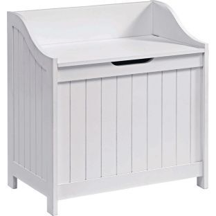 buy monks bench style laundry box white at. Black Bedroom Furniture Sets. Home Design Ideas