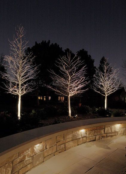 Traditional Patio By McKay Landscape Lighting Notice The Down Lighting In  The Retaining Wall. Love The Up Lit Trees!