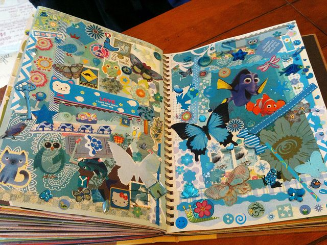 Blue Smash Book Page | Flickr - Photo Sharing!