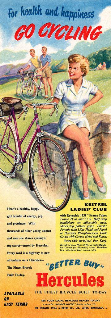 1953 Hercules Bicycles ad | Flickr: Intercambio de fotos