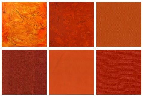 Burnt Orange Colour Pallet Accent Color