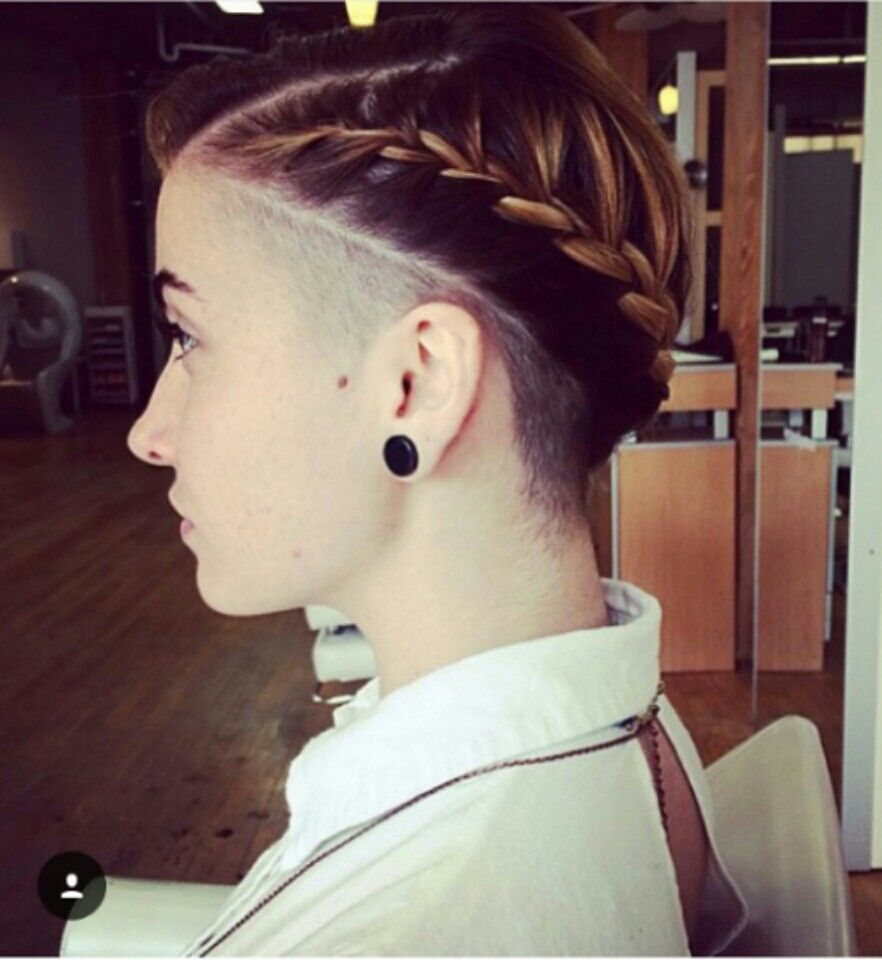 Image result for Braids, Bun and Side Undercut