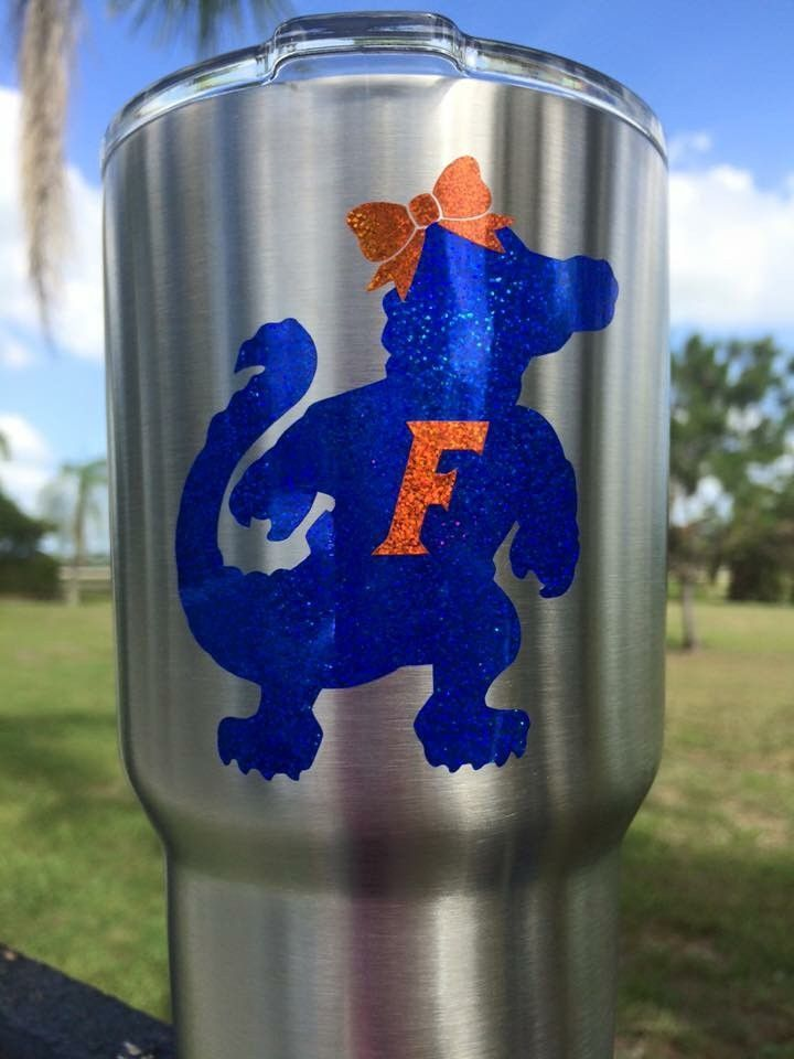 Gator Vinyl Decal Custom Vinyl Yeti Cup And Cricut - Custom vinyl decals for metal