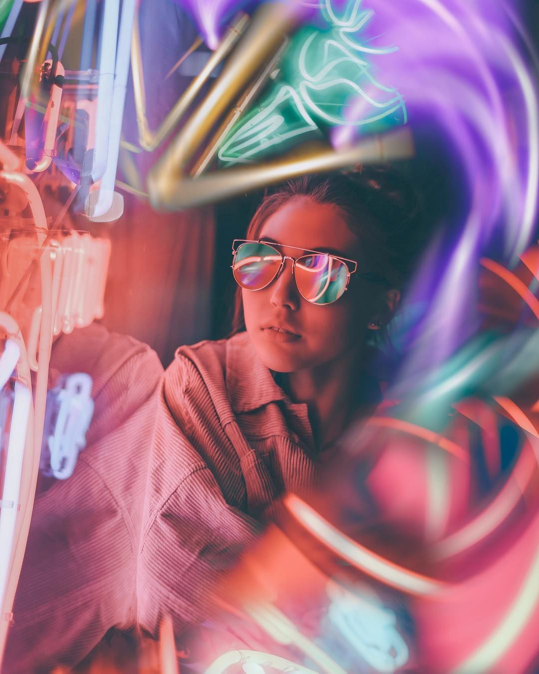Vibrant and Moody Lifestyle Portrait Photography by The Dreamers Eye # photography | Neon photography, Portrait photography, Night portrait