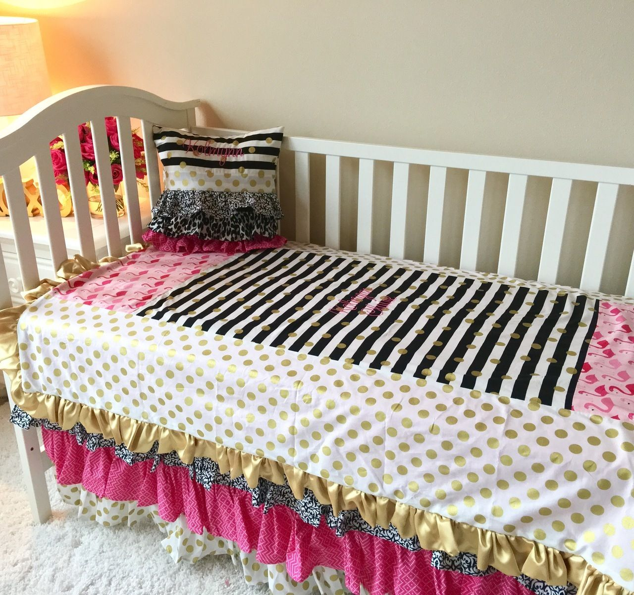 Gold Dot Toddler Bedding – Bedding Design Ideas