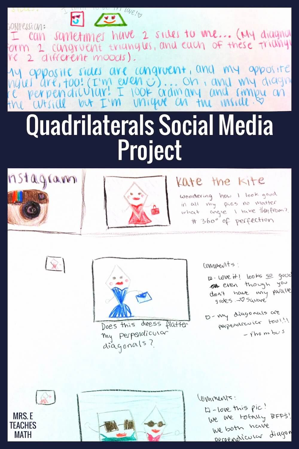 Workbooks worksheets on quadrilaterals and their properties : Awesome Quadrilateral Project | Worksheets, High school and Students