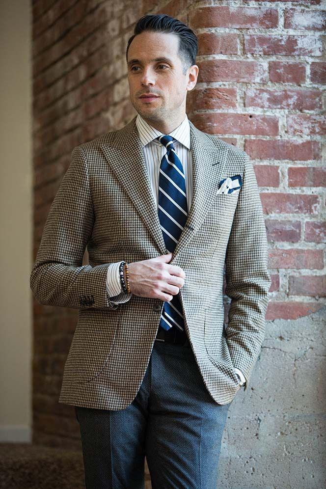 How To Wear a Houndstooth Blazer - He Spoke Style