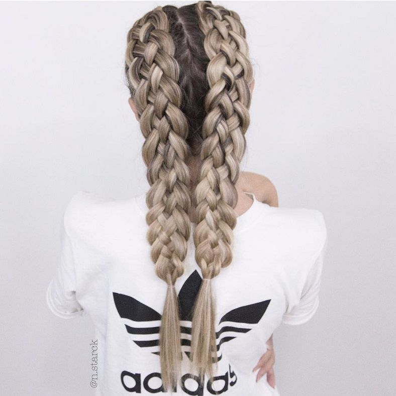 39 Trendy + Messy & Chic Braided Hairstyles – The 5-Strand Braids #braids #hairstyles #braid #uniquehairstyles