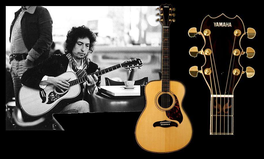 Bob Dylan's YAMAHA L-51 CUSTOM (1978) : Asymmetric body. Brazilian Rosewood back & sides.