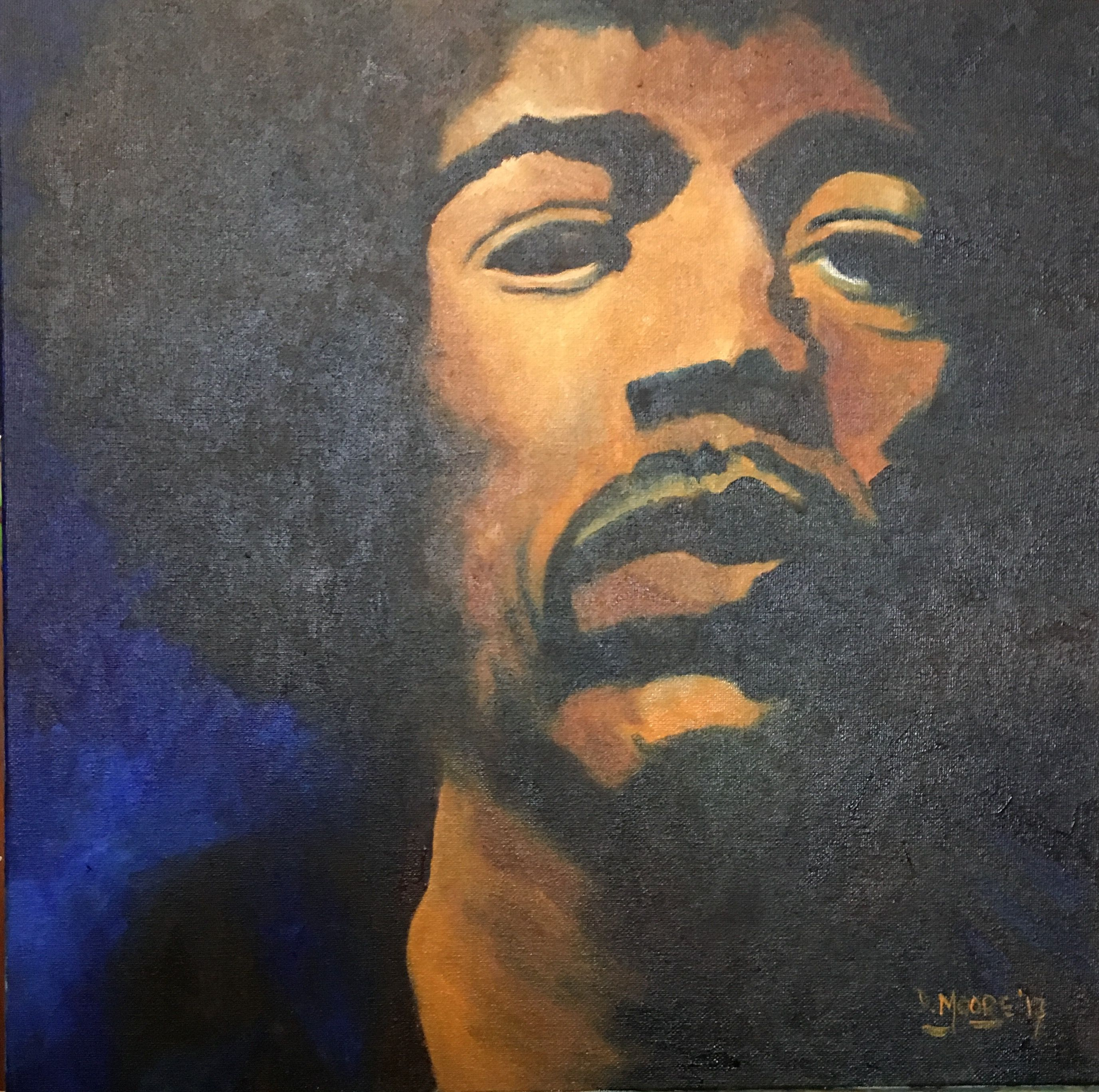 Jimi oil on canvas