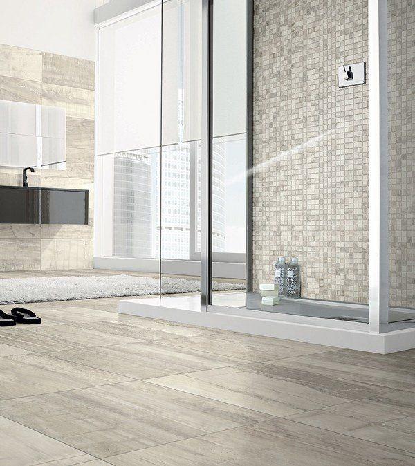 modern bathroom tile ideas floor tile wood finish mosaic ...