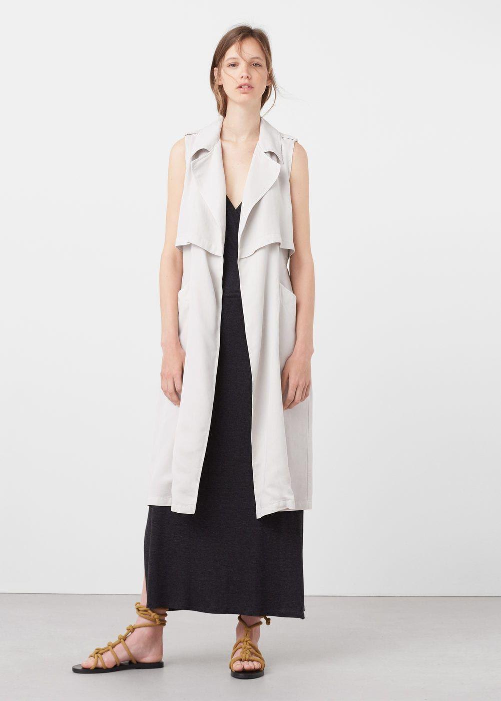 Chaleco tejido soft - Chaquetas de Mujer | MANGO España