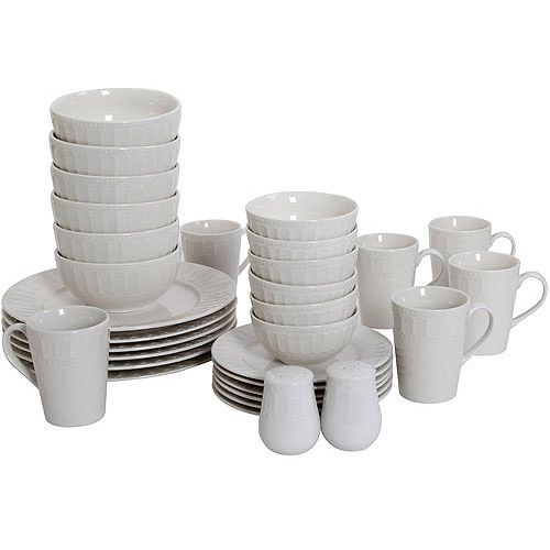 Find the Mainstays Ellenton 32-Piece Dinnerware Set for less at Walmart.com.  sc 1 st  Pinterest & Find the Mainstays Ellenton 32-Piece Dinnerware Set for less at ...