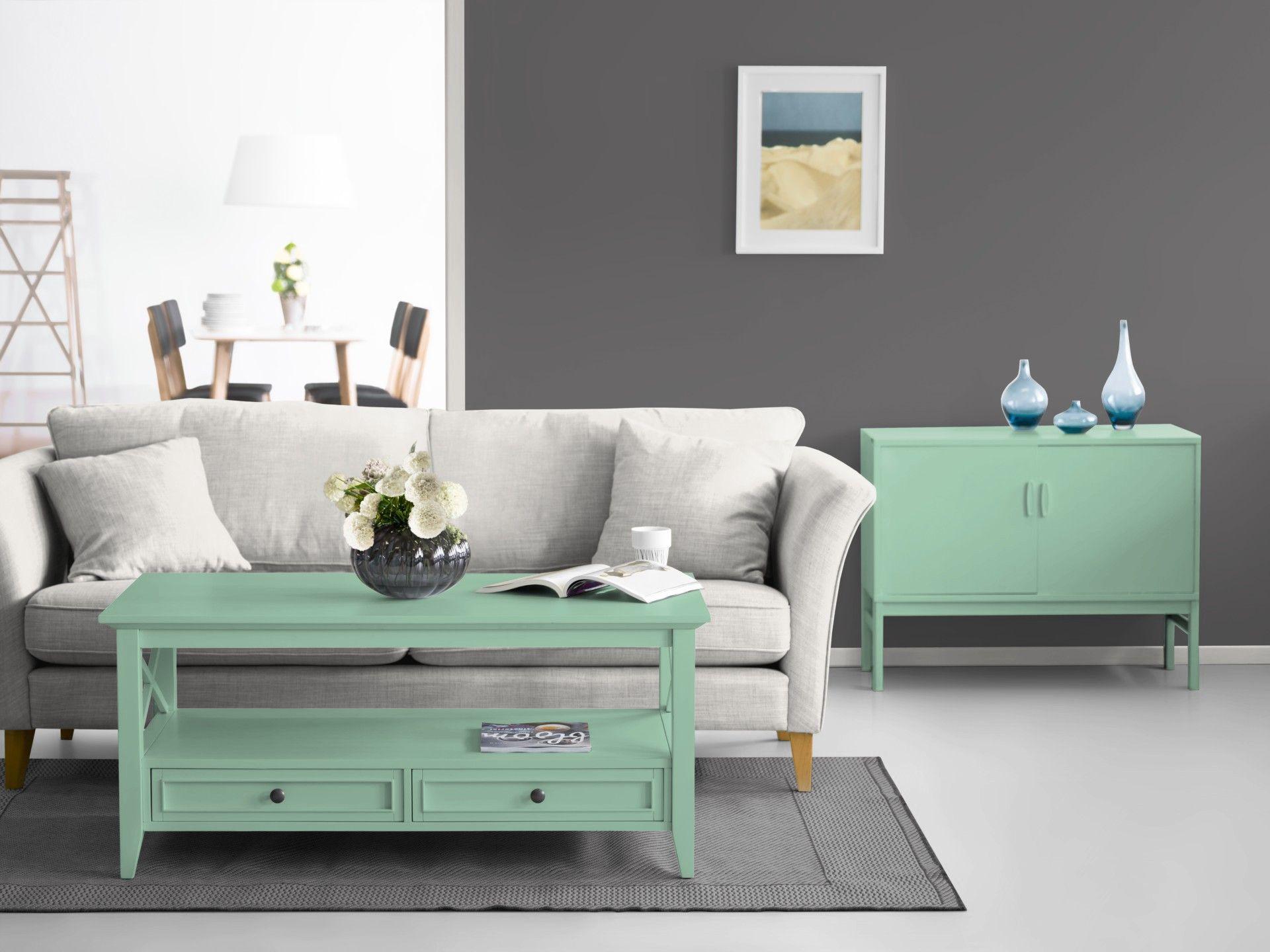 Grau ist modern. Mint-Grün auch. Zeit zu streichen! #Wandfarbe ...