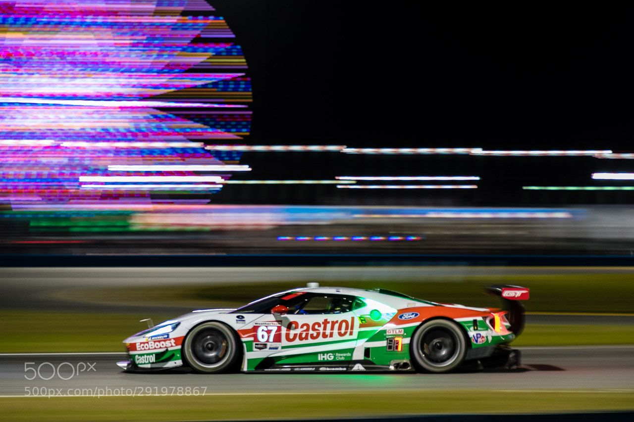 Ford Gt 2019 Daytona 24 Night Practice Ford Gt During Night