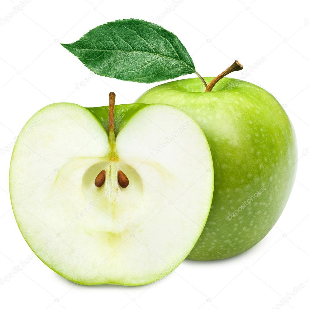 Green Apple Fruits And Half Of Apple And Green Leaves Stock Photo Sponsored Fruits Apple Green Green A Apple Fruit Images Apple Fruit Green Apple