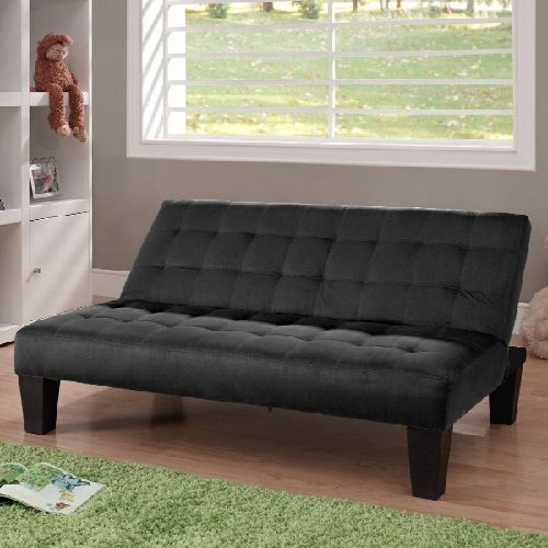 Futon Sofa Bed Black Kids Playroom Couch Chaise Lounge Sleeper