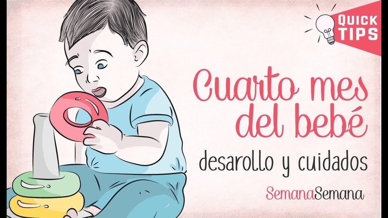 El CUARTO MES del bebé | 4º | Desarrollo y cuidados ✅ | Bebe | Bebe ...