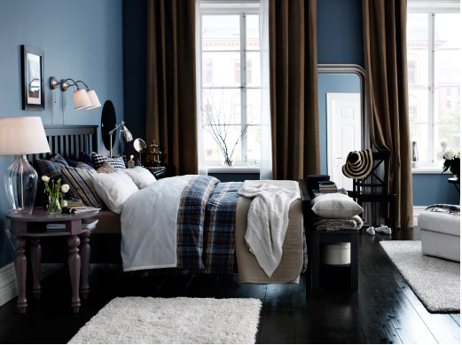 masculine bedroom, blue, brown, neutrals | For the Home | Ikea ...