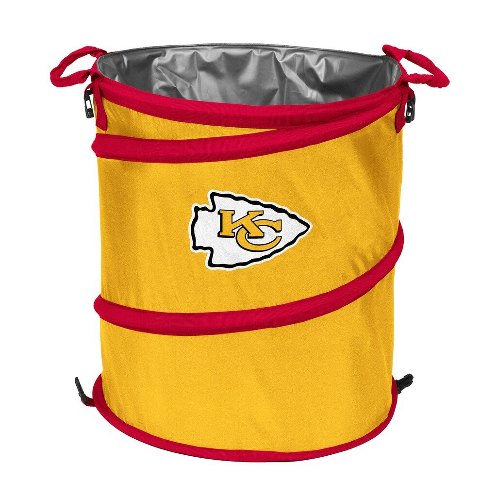 Logo Brand Kansas City Chiefs Collapsible 3 In 1 Trashcan Cooler