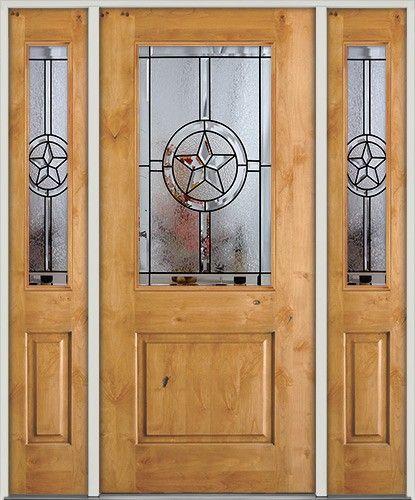 Half Lite Star Knotty Alder Door   Front Entry Door From Door Clearance  Center