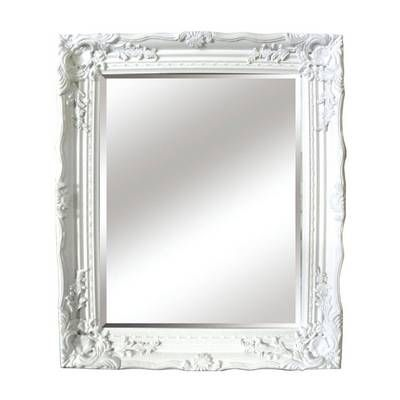 this antique mirror features a glass with beautiful ornate white frame making it the perfect piece to add an element of traditional style picture frames41 white