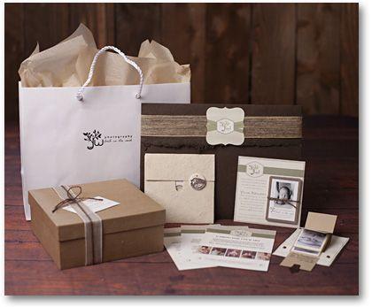 Jennifer Wilcox Photography Packaging Design Wedding