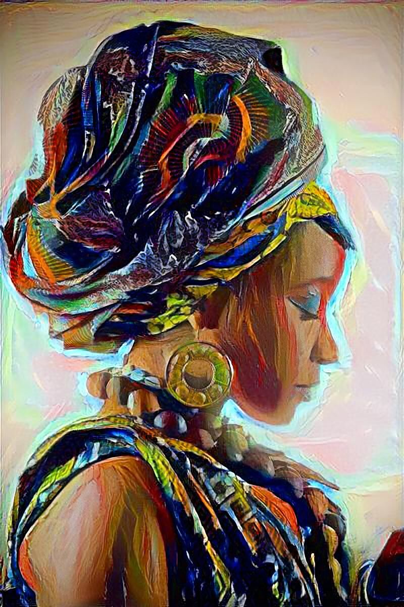 2021 Black Gold Nude Art African Woman Wall Art Sexy