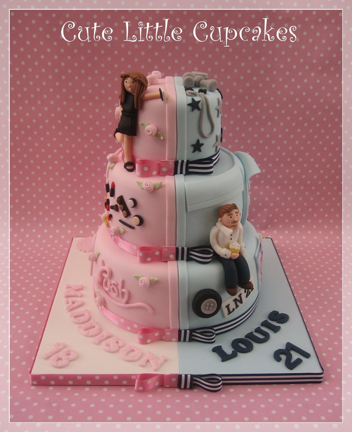 Joint 18th Amp 21st Birthday Cake By Cute Little Cupcakes
