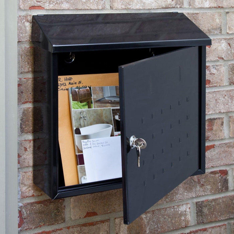 Samai Maxi Locking Wall Mount Mailbox Wall Mount Mailbox Locker Storage Wall Mount