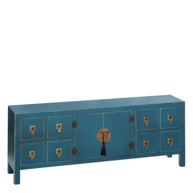 meuble bas chinois bleu canard le grenier de juliette dos de canap pinterest meuble bas. Black Bedroom Furniture Sets. Home Design Ideas