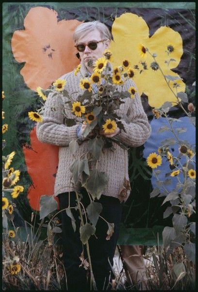 c313d6723a5 Andy Warhol flower painting with sunflowers