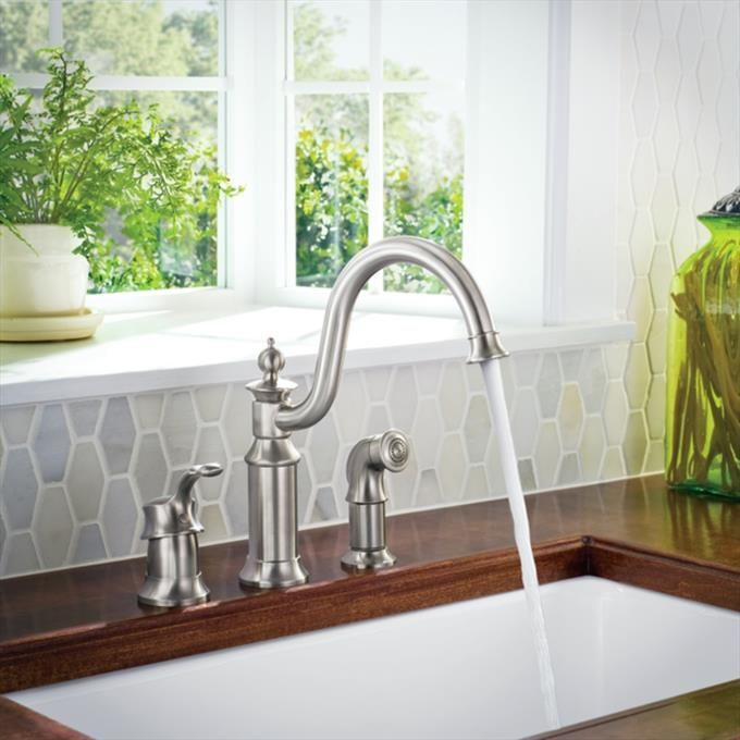 Moen Spot Resist Stainless One Handle High Arc Kitchen Faucet