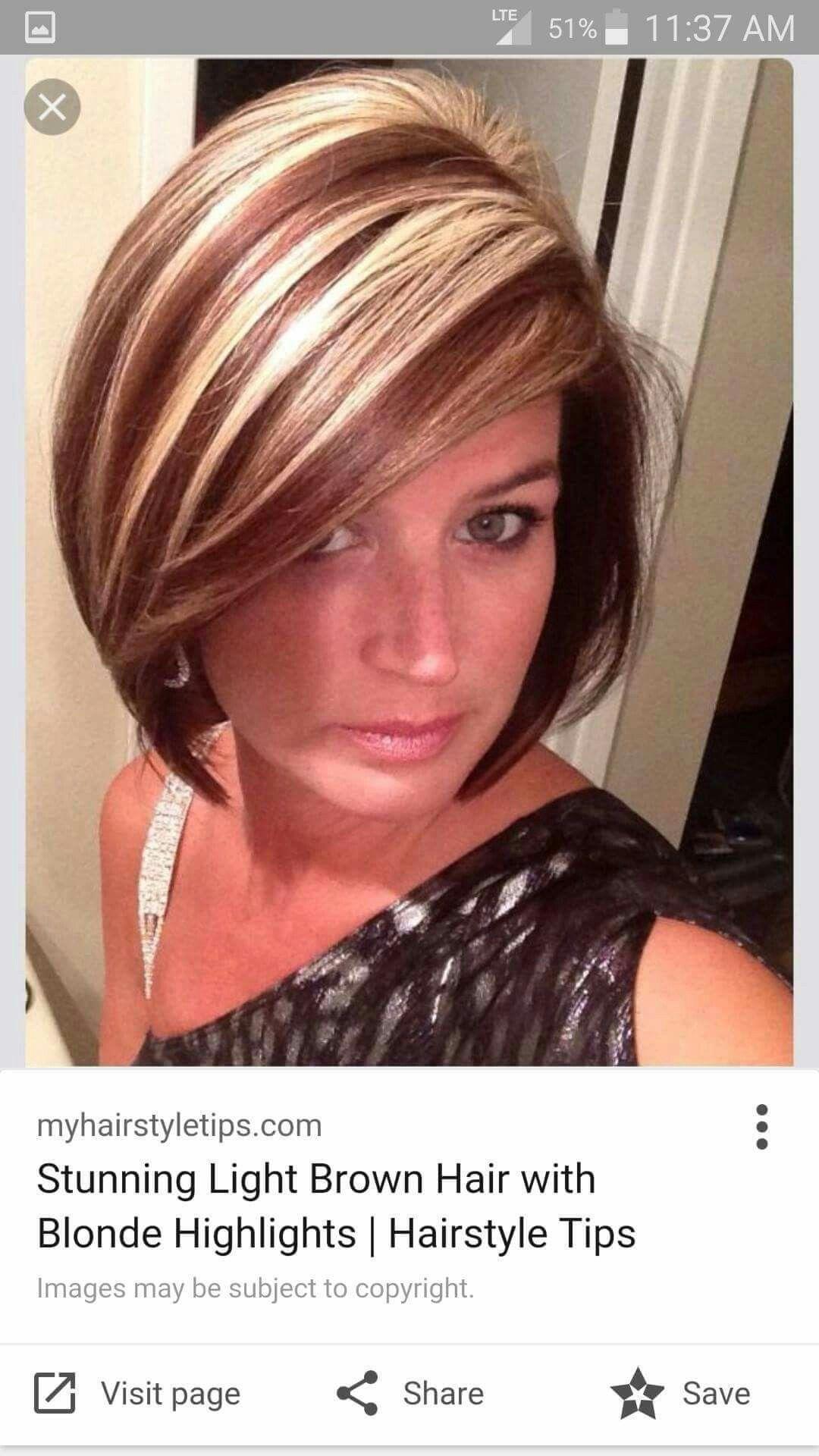 Tiger Stripes In 2019 Short Hair Styles Brown Blonde Hair