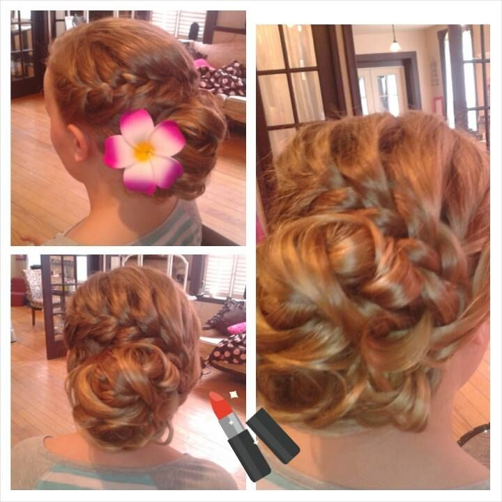 This updo is one of my absolute favorites!  A braid wrapping around into an updo!