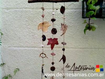 Llamador De ángeles Rústico De Hojas Chicas Deartesanias Feria