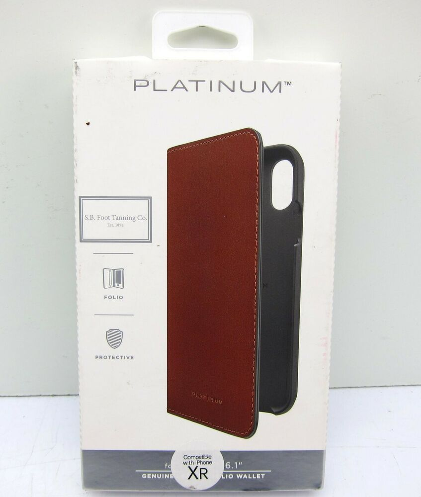 new arrivals 0bba3 9002d SB Foot Tanning Co Platinum Genuine Leather Folio Wallet Phone Case ...