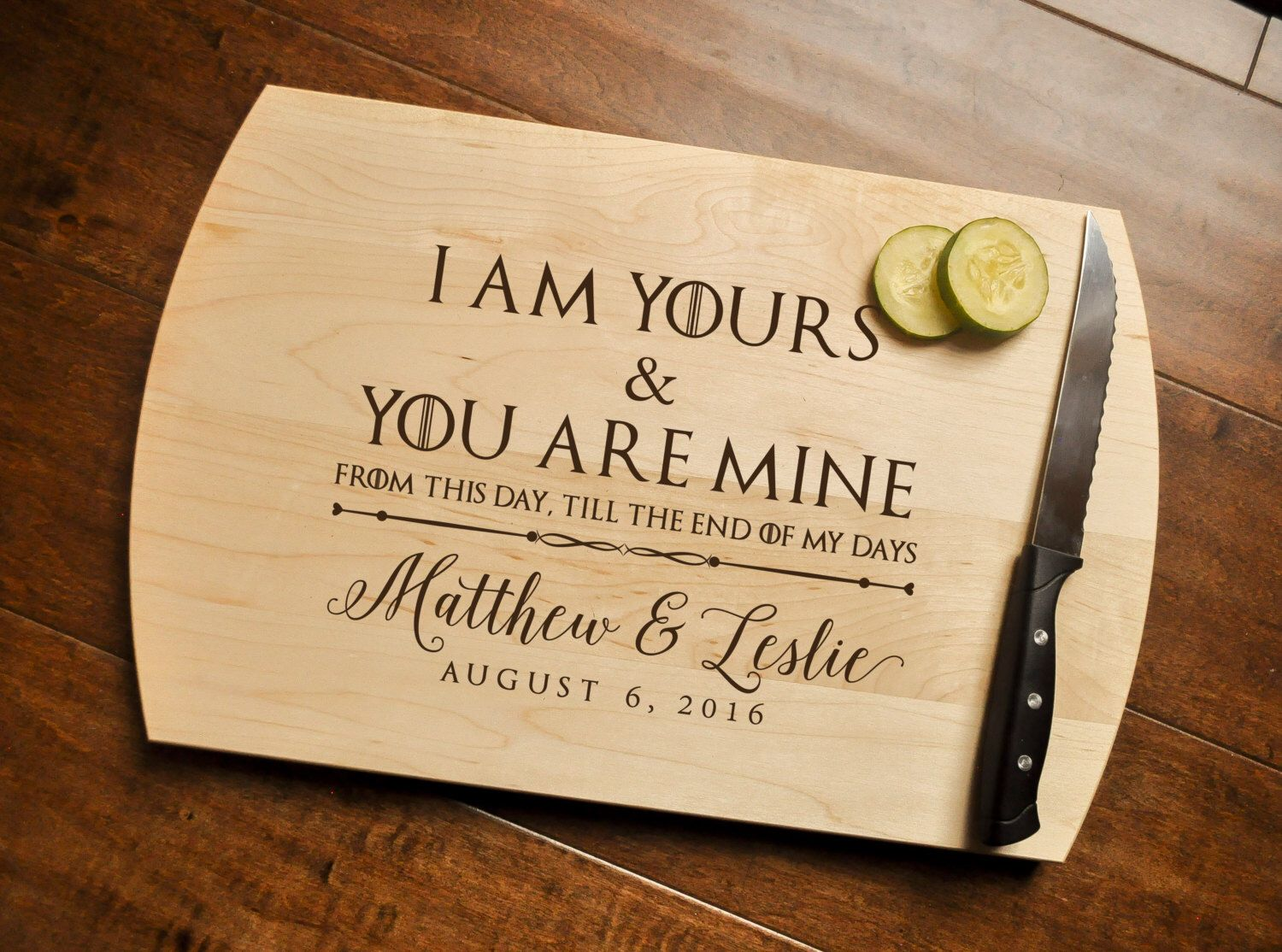 Of Thrones Cutting Board Engraved Got Wedding Vows