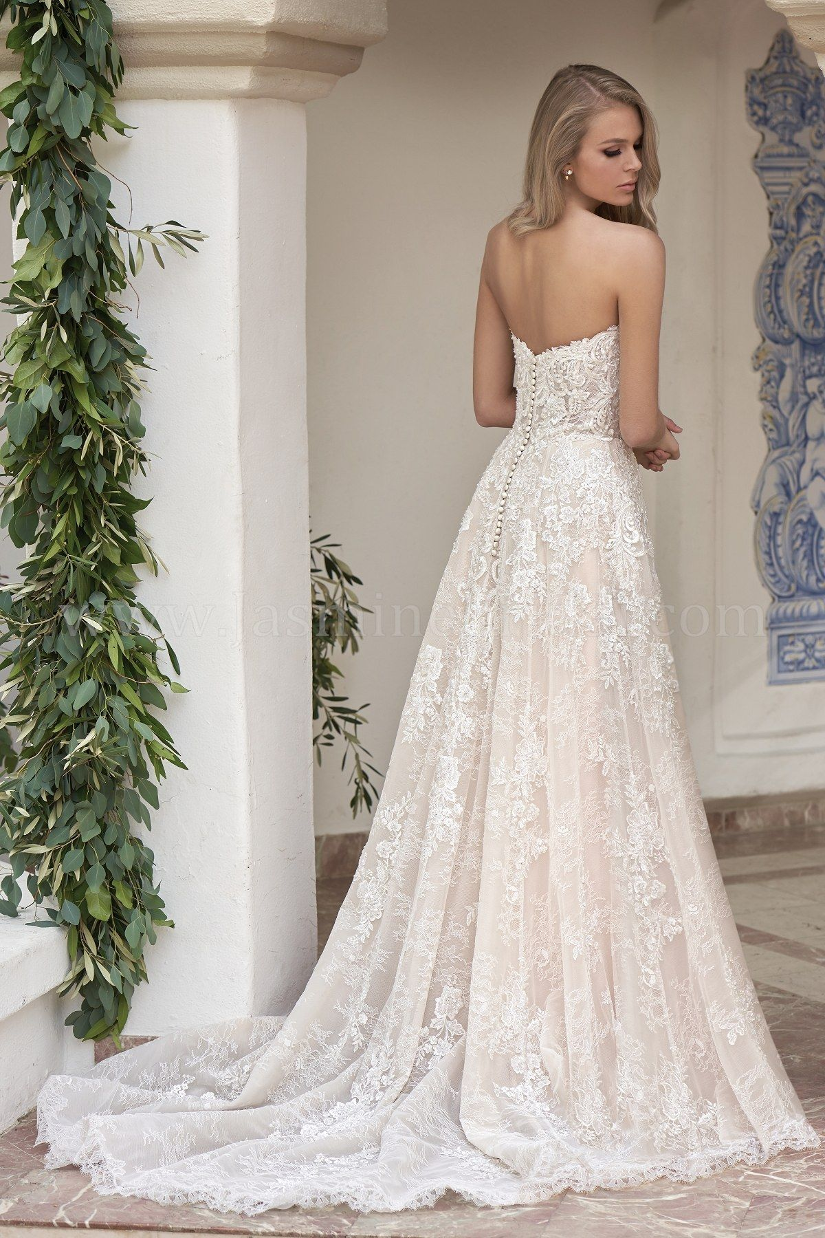 T202062 Strapless Sweetheart Embroidered Lace Tulle Organza Wedding Dress Drop Waist Wedding Dress Wedding Dress Organza Wedding Dress Couture