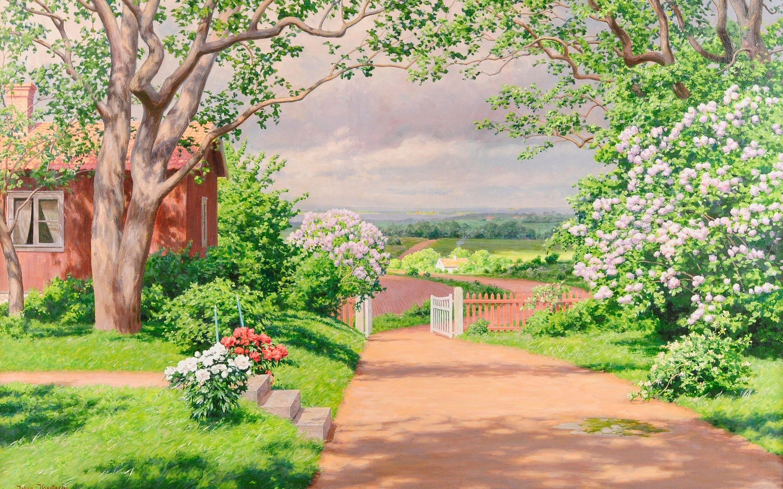Картинка весна загородный