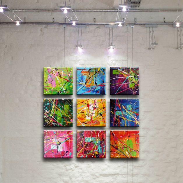 PEINTURE TABLEAU OEUVRE ART ABSTRAIT SUR TOILE …   Abstract art painting, Colorful art, Artwork ...