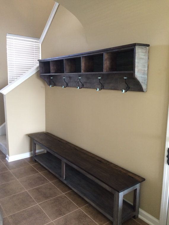 Entryway Storage Shelf With Hooks And Cubbies Custom Order