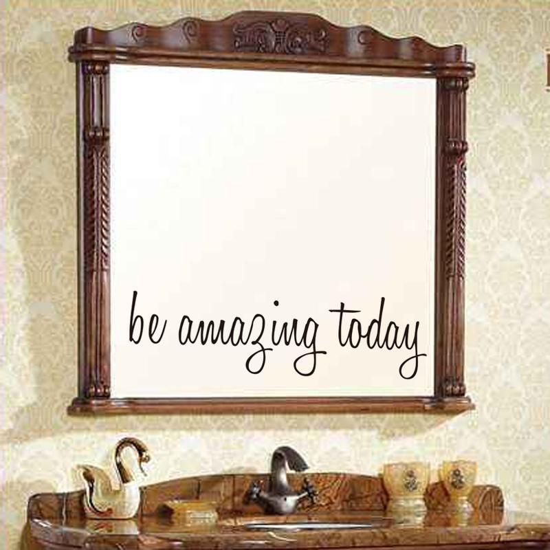 be amazing today quote vinyl wall decal mirror art wall on wall stickers for home id=69160
