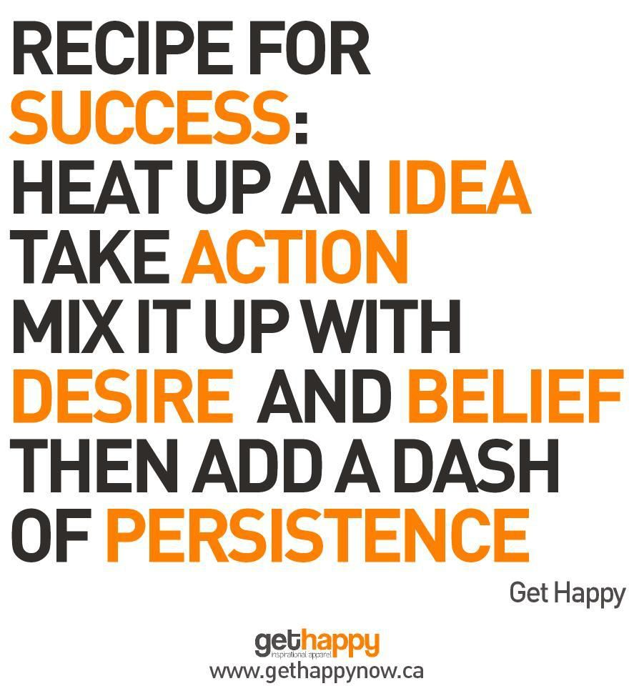 Success Quotes: Recipe For Success Quotes. QuotesGram