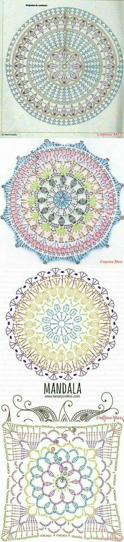 Mandales patrones | mandalas | Pinterest | Mandalas, Patrones y ...