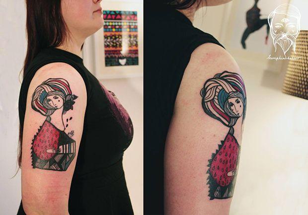 Formas fluídas como esboços. O estilo livre de Bumpkin Tattoo