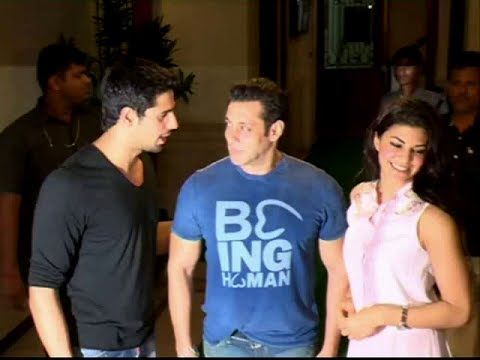Salman Khan & Jacqueline Fernandez @ Sidharth Malhotra's Ek Villain's success party.