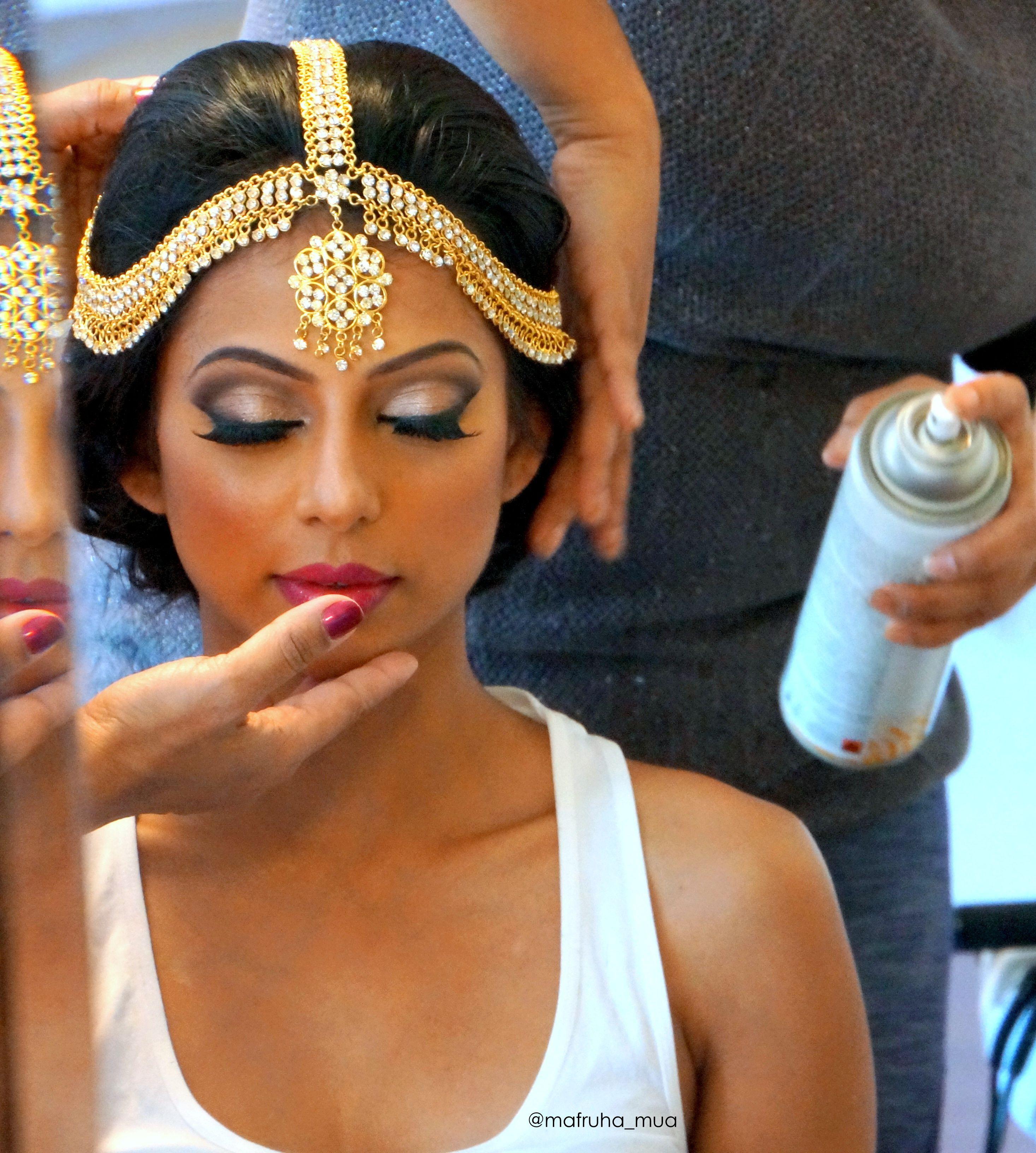 Makeup And Hair For This Beautiful Srilanken Bride Bride Wedding Mua Makeupartist T Indian Bride Makeup Bridal Hair And Makeup South Asian Wedding Makeup